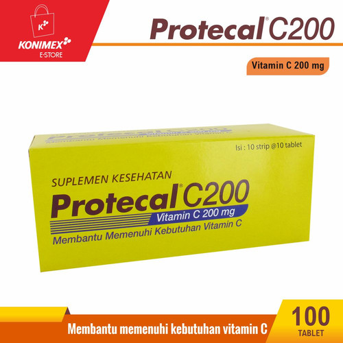 Foto Produk Protecal C200 Vitamin C 200 Strip dari Konimex Store