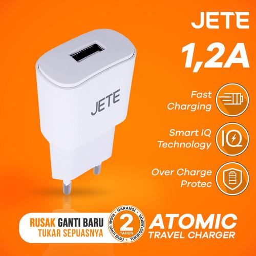 Foto Produk Charger JETE Atomic Single Output 1,2A Fast Charging dari JETE Official Surabaya
