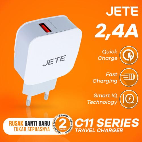 Foto Produk Charger JETE C11 TACILIM Quick Charge 3.0 - Hitam dari JETE Official Surabaya