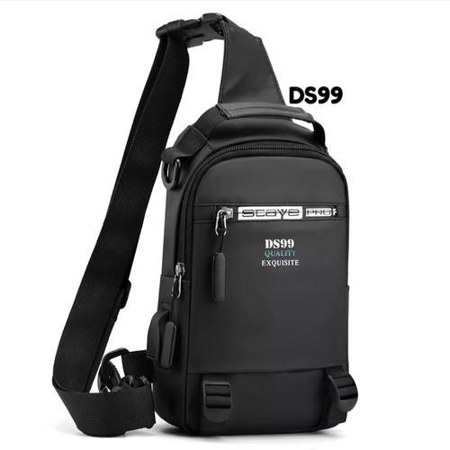 Foto Produk DS99 Tas Selempang pria 2021 3in1 bisa ransel tas ransel multifungsi - Hitam dari dream_shop_99