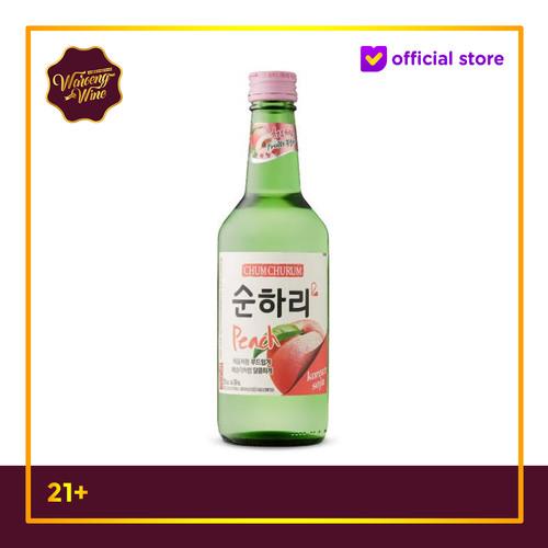Foto Produk Soju Korea Chum Churum Peach 360ml dari Waroeng Wine GS