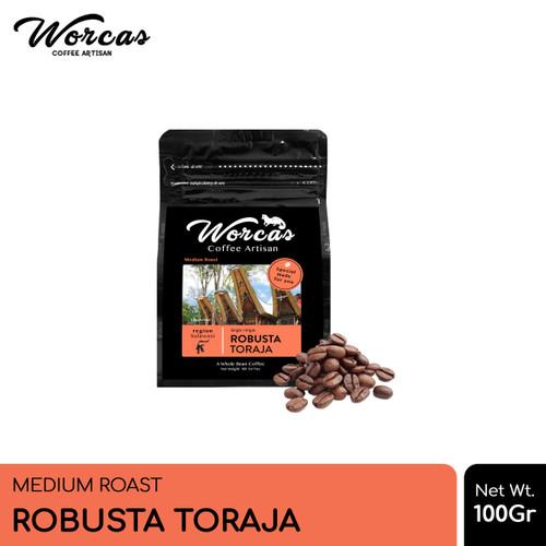 Foto Produk WORCAS Kopi Robusta Toraja 100gr - Medium Roast - KOPI BIJI dari WORCAS COFFEE