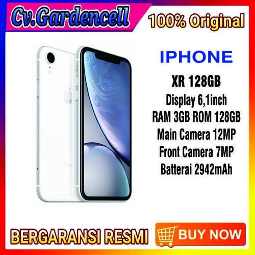 Foto Produk IPHONE XR 128GB GARANSI RESMI TAM/iBOX - BLACK dari Garden Cell Official