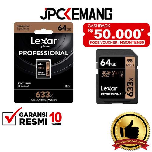 Foto Produk Lexar 64GB Professional UHS-I SDXC Memory Card GARANSI RESMI dari JPCKemang