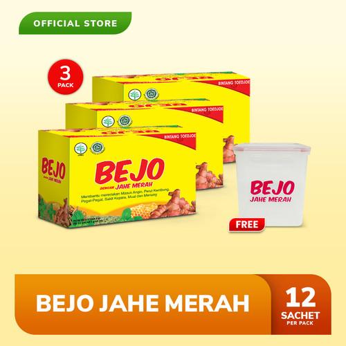 Foto Produk Bejo Jahe Merah Sachet 3 Pack (36 Sachet) FREE Lunch Box dari Bintang Toedjoe Official