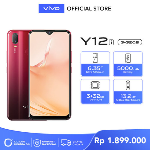 Foto Produk Vivo Y12i [3/32] RAM 3 ROM 32 Agate Red dari vivo Indonesia