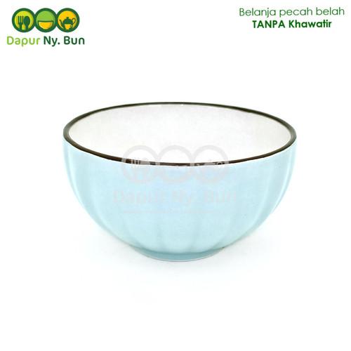 Foto Produk Mangkok Nasi Kecil Warna Polos Model Labu Ukuran 4,5 Inch - Biru Muda dari Dapur Ny.Bun