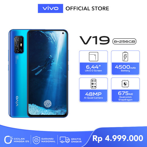 Foto Produk Vivo V19 [8/256] RAM 8GB ROM 256GB Arctic Blue dari vivo Indonesia