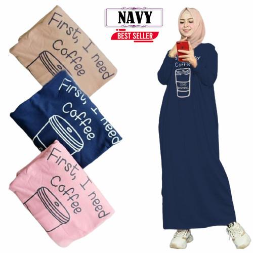 Foto Produk Maxy gamis wanita muslimah gamis terbaru baju muslimah daster wanita - Navy dari Micci Fashion