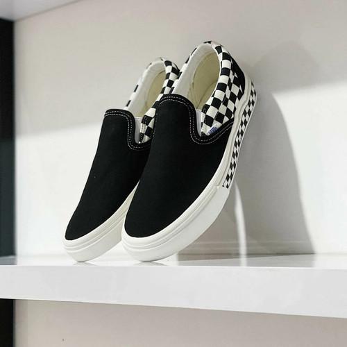 Foto Produk Vans Slip On Sidewall Checkerboard Black White BNIB ORIGINAL MURAH - 36 dari AmdaOriginal