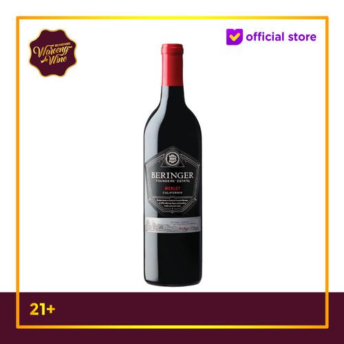 Foto Produk PROMO TERMURAH Red Wine Beringer Founders Estate Merlot dari Waroeng Wine GS