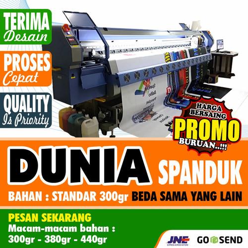 Foto Produk SPANDUK BANNER MEDIA PROMOTION CUSTOM - Siap Cetak, 1x1 dari Putra Media Bekasi