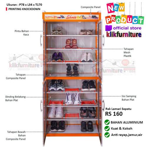 Foto Produk Rak Sepatu Lemari Sepatu Tempat Sepatu ALUMINIUM RS 160 dari klikfurniture