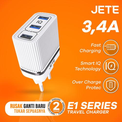 Foto Produk Charger JETE E1 3.4A 3 USB Output Fast Charging dari JETE Official Surabaya