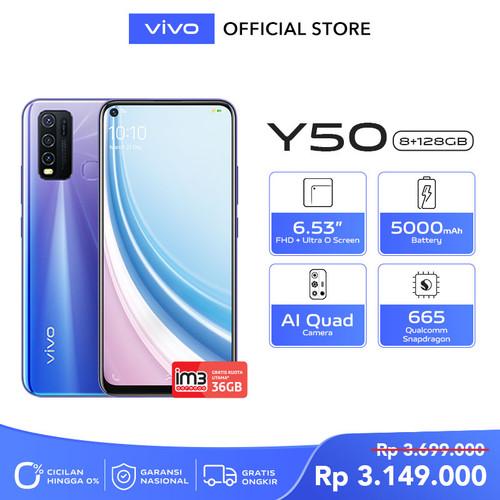 Foto Produk Vivo Y50 [8/128] RAM 8GB ROM 128GB Iris Blue dari vivo Indonesia