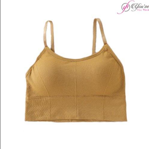 Foto Produk Wimiu Sport Bra BH Sport BH Wanita Pakaian Dalam Wanita B1435 - Brown, One size dari Wimiu Official Store