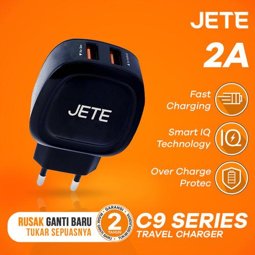 Foto Produk Charger JETE C9 Dual Output 2A Fast Charging - Hitam dari JETE Official Surabaya