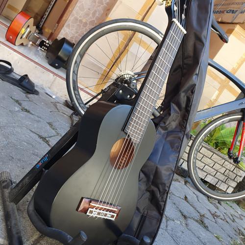 Foto Produk Guitalele / ukulele senar 6 Supercopy GL1 custom Gitar akustik mini - Hitam dari dapid bakoel gitar