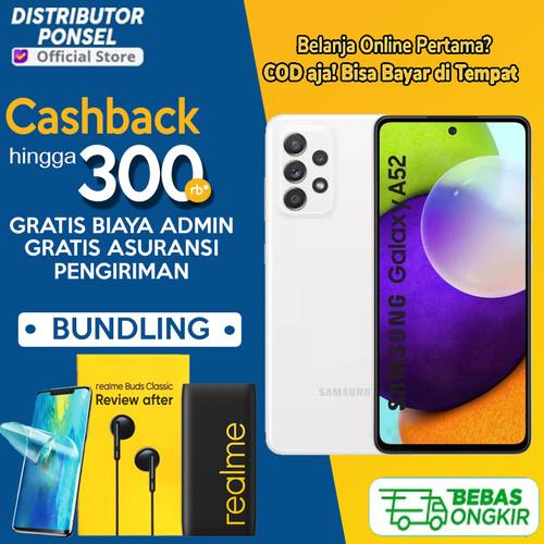 Foto Produk Samsung Galaxy A52 8/256GB 8/128GB Garansi Resmi 8 GB 128 GB 256 GB - 8GB 128GB, Non Bundlle dari Distributor Ponsel