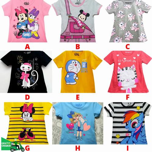 Foto Produk Kaos Anak Perempuan Lucu SIze 7-10 Tahun dari Posikids