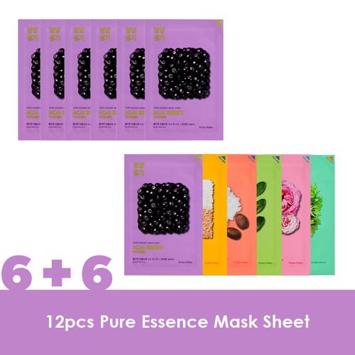 Foto Produk Holika Holika (6+6) Pure Essence Mask Sheet - Acai Berry dari Holika Holika Indonesia
