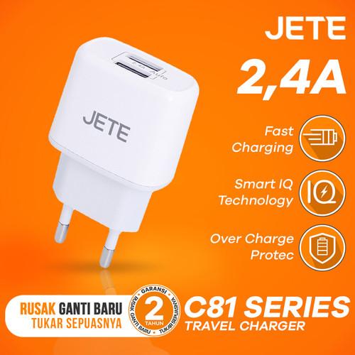 Foto Produk Charger JETE C81 PIKE Dual Output 2.4A Fast Charging dari JETE Official Surabaya