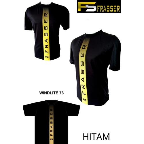 Foto Produk kaos oblong olahraga badminton running gym frasser windlite 73 hitam dari Pusat Grosir OLAHRAGA