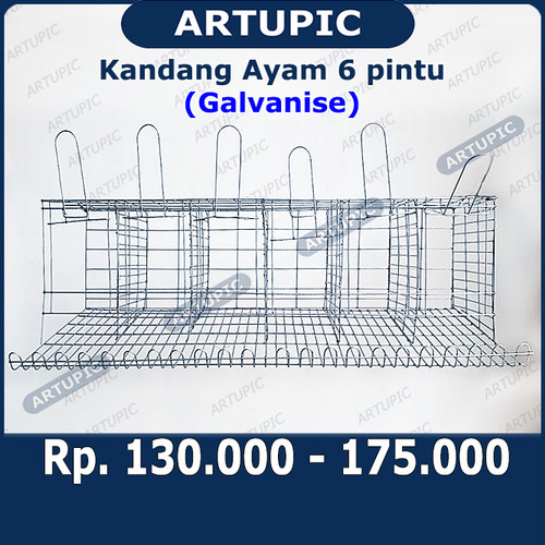 Foto Produk Kandang Ayam Petelur 6 Pintu Galvanise dari ArtupicPeralatanPeternak