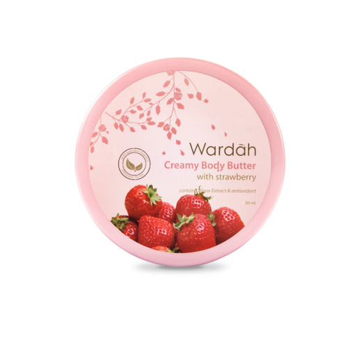 Foto Produk Wardah Creamy Body Butter with Strawberry 50 ml dari Wardah Official