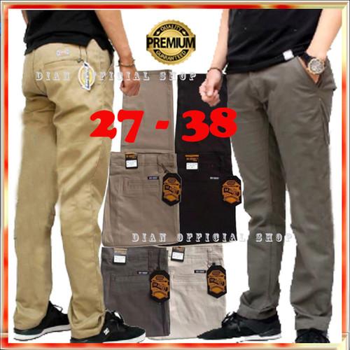 Foto Produk Celana Chino Panjang Pria Premium Hitam Abu Krem Big Size Jumbo Kasual - Hitam, 27 dari Dian Official Shop.