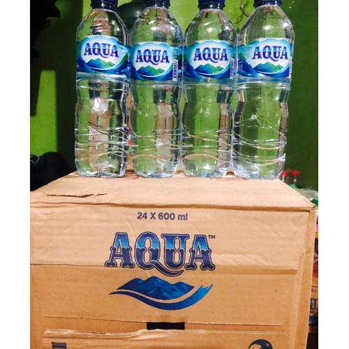 Foto Produk Aqua 600 ml 1 dus isi 24 botol dari TOKO BAGUES