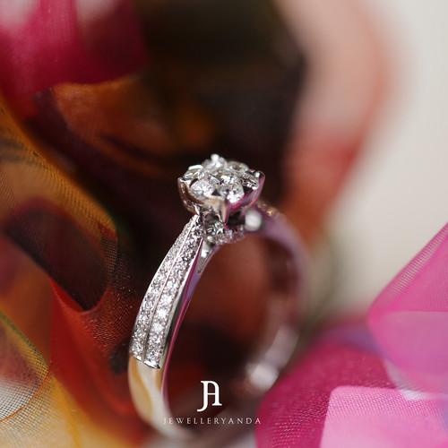 Foto Produk Edeline diamond Ring - Diamond Ring - Jewelleryanda - 10 dari jewelleryAnda_