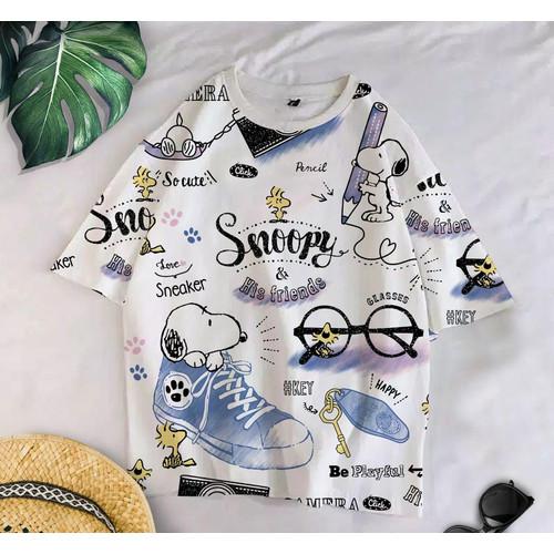 Foto Produk T-Shirt SNOP F XL / BAJU KAOS WANITA XL KOREA OVERSIZE KATUN COMBED dari omg murah