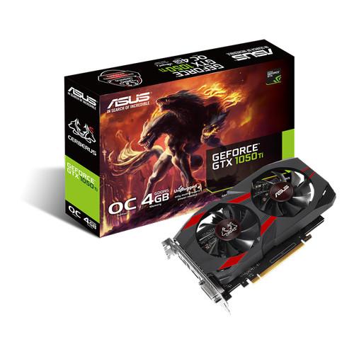 Foto Produk VGA ASUS Cerberus GeForce GTX 1050 Ti OC 4GB GDDR5 1050Ti 128Bit dari PT. MMG