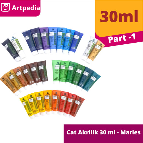 Foto Produk Maries Acrylic Colour 30ml / Cat Acrylic Maries / Cat Akrilik Maries - TITANIUM WHITE dari Artpedia Shop