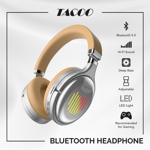Foto Produk TACOO Wireless Headphone Gaming Bluetooth 5.0 Powerful Bass Portable dari TACOO Official Store