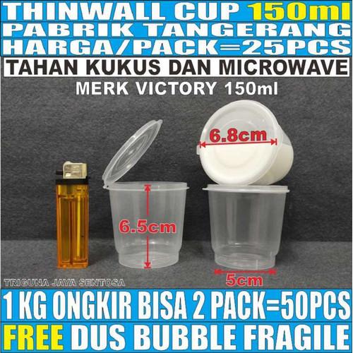 Foto Produk Cup puding 150ml 25pcs tempat selai gelas eskrim slime sambal merpati dari Triguna Jaya Sentosa Trifinity
