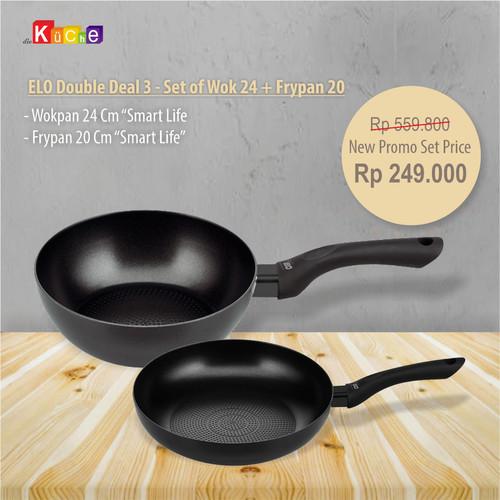 Foto Produk ELO Double Deal 3 - Set of Wok 24 + Frypan 20 dari Diekuche Fackelmann
