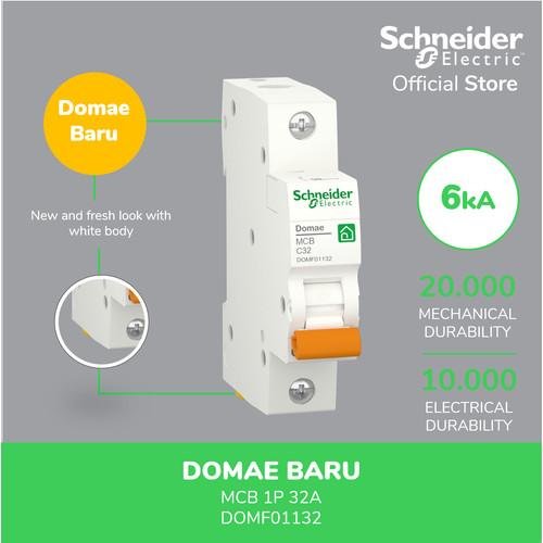 Foto Produk Schneider Electric NEW DOMAE MCB 32A 1P - DOMF01132 dari Schneider Electric Home
