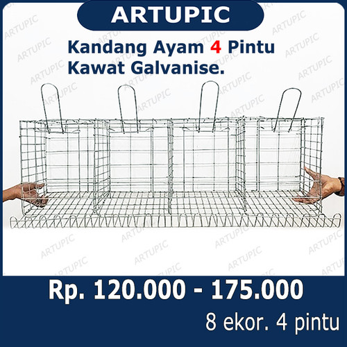 Foto Produk Kandang Ayam Petelur Galvanis Kawat Layer Artupic dari ArtupicPeralatanPeternak