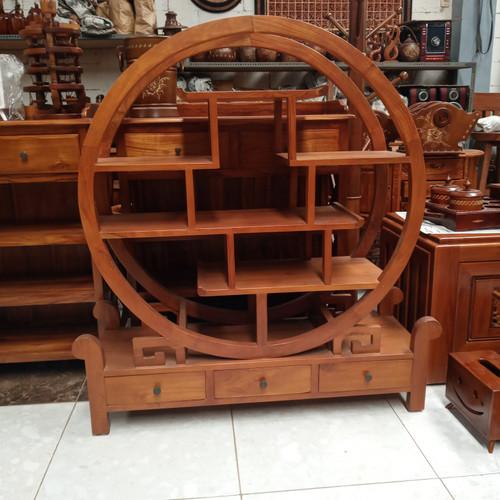 Foto Produk Buffet hias model oriental Bahan kayu jati dari rafa jaya teknik
