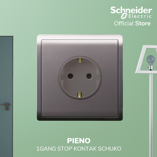 Foto Produk Schneider Electric PIENO 1 Gang Kotak Kontak Schuko - E82426_16S_LS_G3 dari Schneider Electric Home