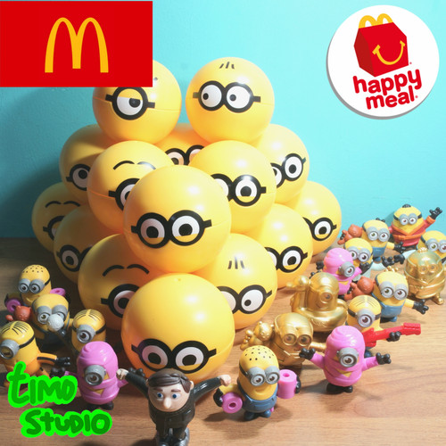 Foto Produk McD Happy Meal Toys All Minions from Minions Rise of Gru dari TimoStudio