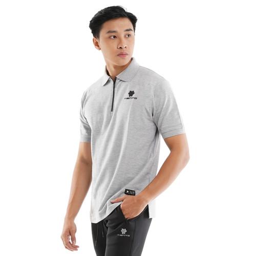 Foto Produk Tiento Polo Shirt True Basic HDC Grey Baju Kaos Kerah Lengan Pendek - L dari TIENTO