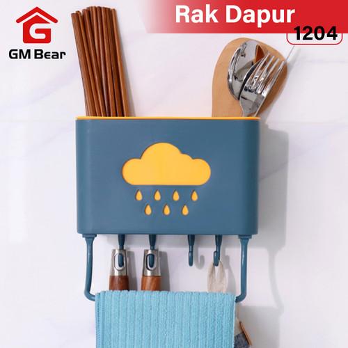 Foto Produk GM Bear Tempat Sendok&Garpu Peralatan Dapur Gantung 1204-Kitchen Rack dari GM Bear