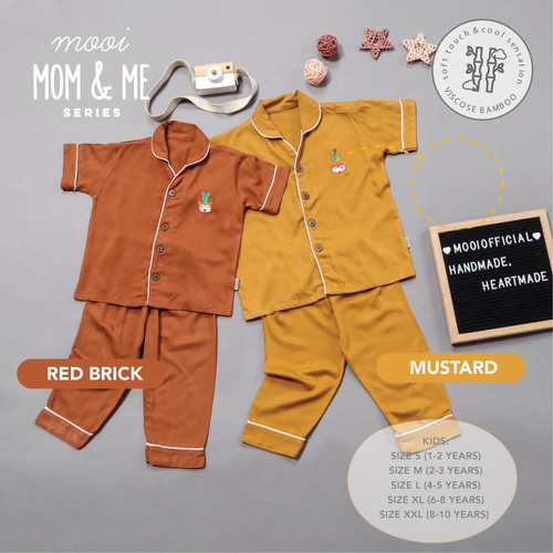 Foto Produk Piyama Baju Tidur Anak Bamboo Viscose Bordir Mooi - SIZE S, LILAC dari Mooi Official