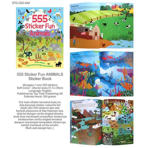 Foto Produk 555 Sticker Fun Vehicles Activity Book Buku Anak - Animals dari Thevringe