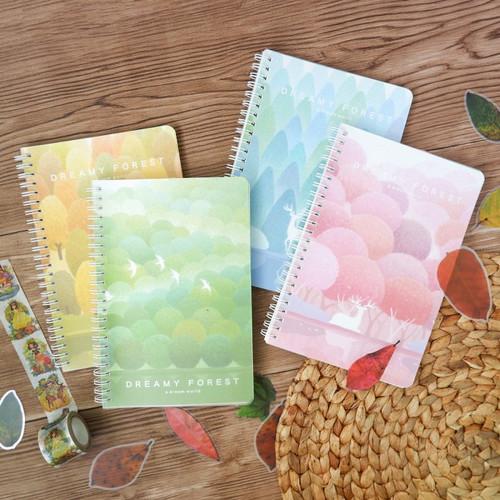 Foto Produk Dreamy Forest Spiral Ruled Notebook B5 dari Pinkabulous