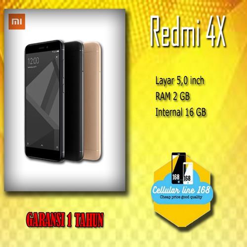 Foto Produk Xiaomi Redmi 4X Ram 2Gb Rom 16Gb Black - Garansi Distributor 1 Tahun dari cellularline168