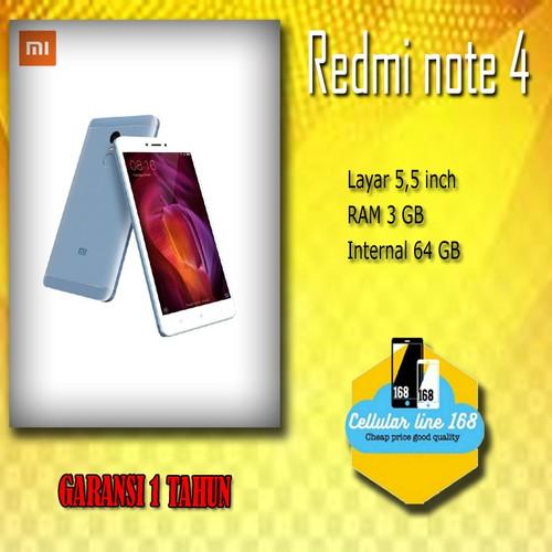 Foto Produk Xiaomi Redmi Note 4 RAM 3GB Memori 64GB Garansi Distributor 1 Tahun dari cellularline168